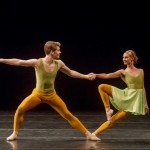 Alex Kramer and Sarah Stein of Ballet San Jose in Merce Cunningham's DUETS (Photo: Robert Shomler)