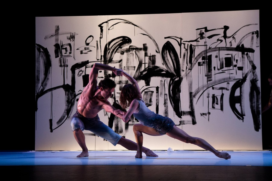 Ashley Flaner and Domenic Luciano of Post:Ballet in Robert Dekkers' COLOURING (Photo: Tricia Cronin)