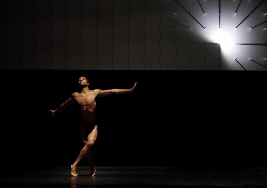 Louis McMiller performs in Wayne McGregor   Random Dance's FAR, (Photo:  Ravi Deepres)