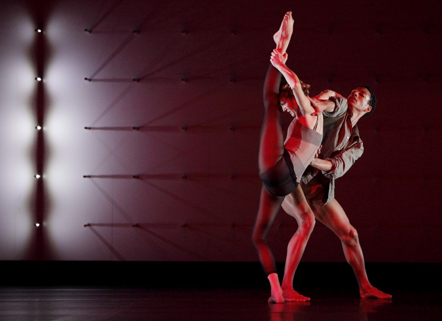 Anna Nowak and Michael-John Harper perform in Wayne McGregor   Random Dance's FAR. (Photo by Ravi Deepres)