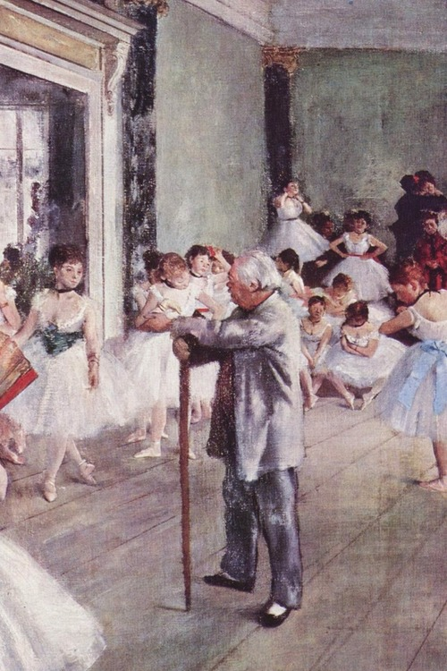 Degas takes on the ballet teacher.