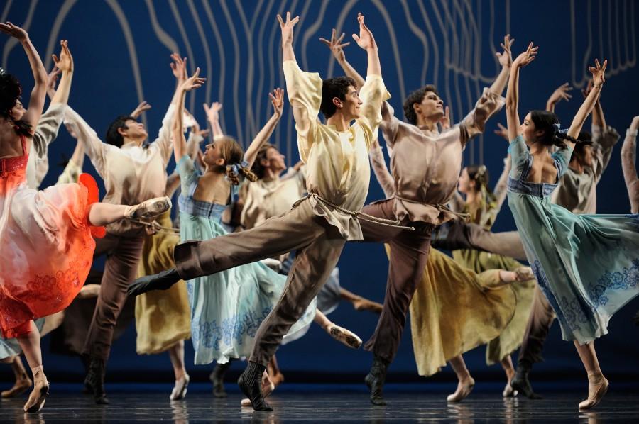 San Francisco Ballet in the joyous final celebratory scene of Yuri Possokhov's FIREBIRD (Photo: Erik Tomasson)