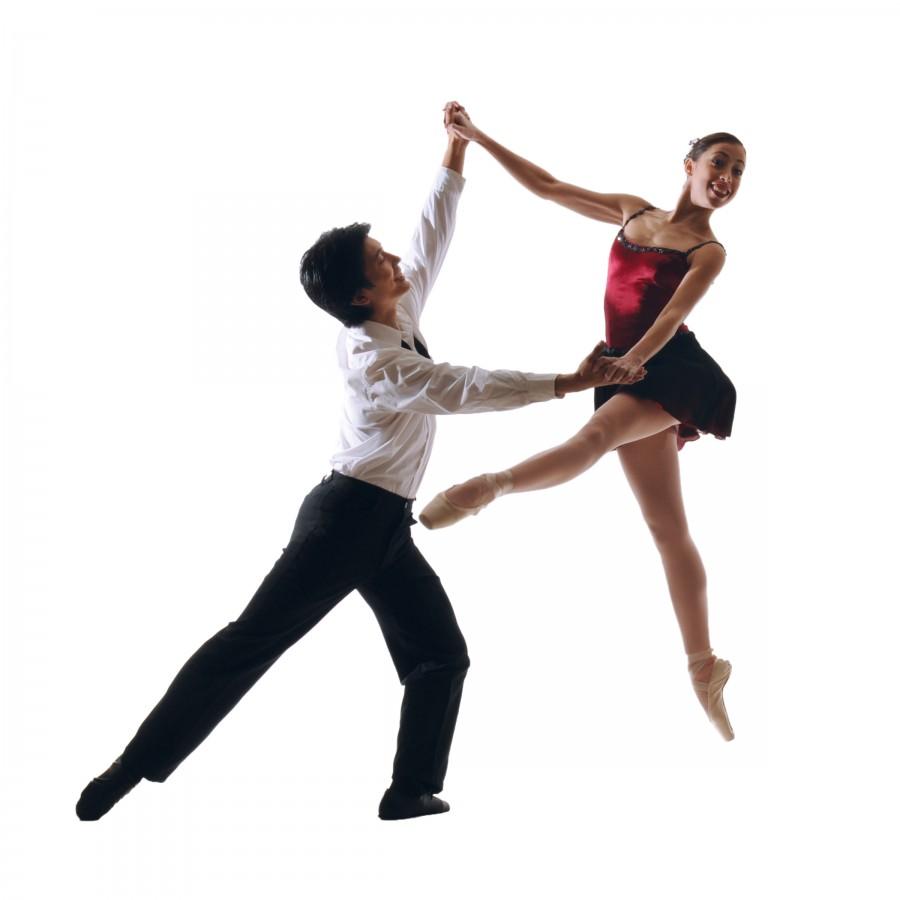 Rosselyn Ramirez and Derek Sakakura of Diablo Ballet in George Balanchine's Who Cares? (Photo: Ashraf Habibullah)