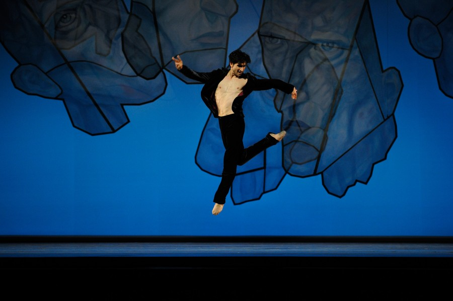 Davit Karapetyan in Chamber Symphony from Ratmansky's SHOSTAKOVICH TRILOGY (Photo: Erik Tomasson)