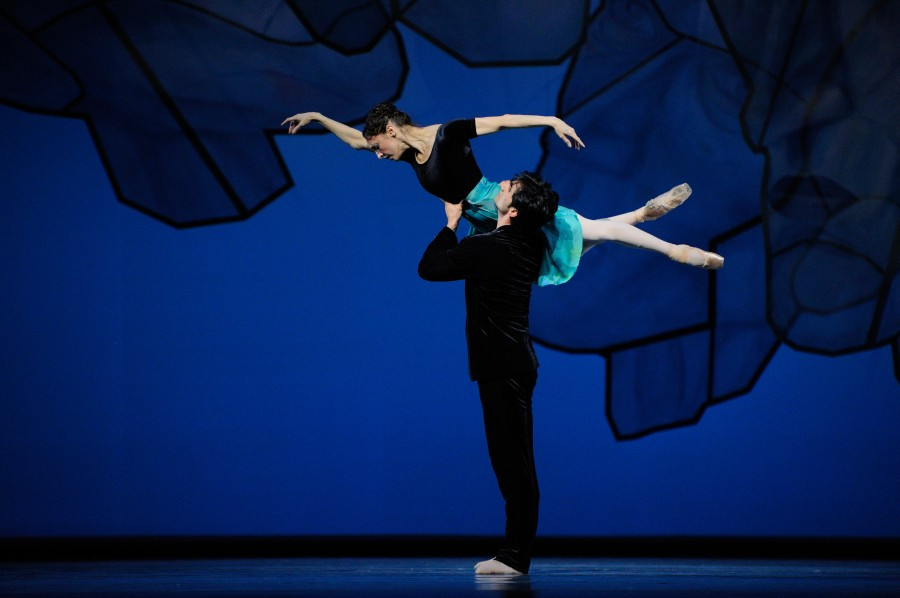 Mathilde Froustey and Davit Karapetyan in Chamber Symphony from Ratmansky's SHOSTAKOVICH TRILOGY (Photo: Erik Tomasson)