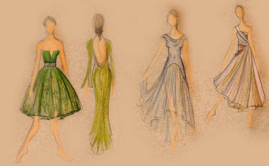Costume designs by Christine Darch for Amy Seiwert's IN PASSING  premiering this week at the Marcus Center (Image courtesy Milwaukee Ballet)