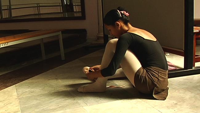 Mayara Pineiro at the National Ballet School in Havana