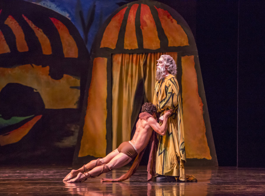 Alberto Velazquez & Ashley Wheater as the Father in Balanchine's Prodigal Son (Photo: Cheryl Mann)