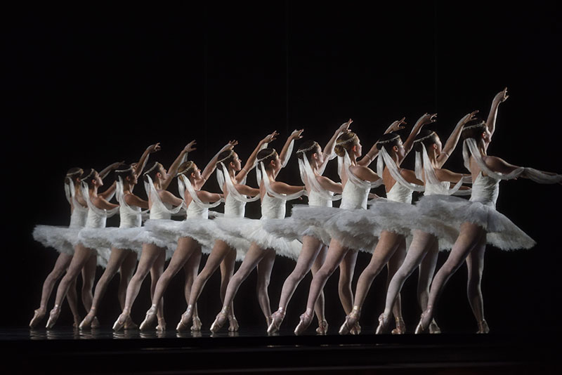 San Francisco Ballet corps in the Kingdom of the Shades scene from Natalia Makarova's staging of La Bayadère (Photo: Erik Tomasson)