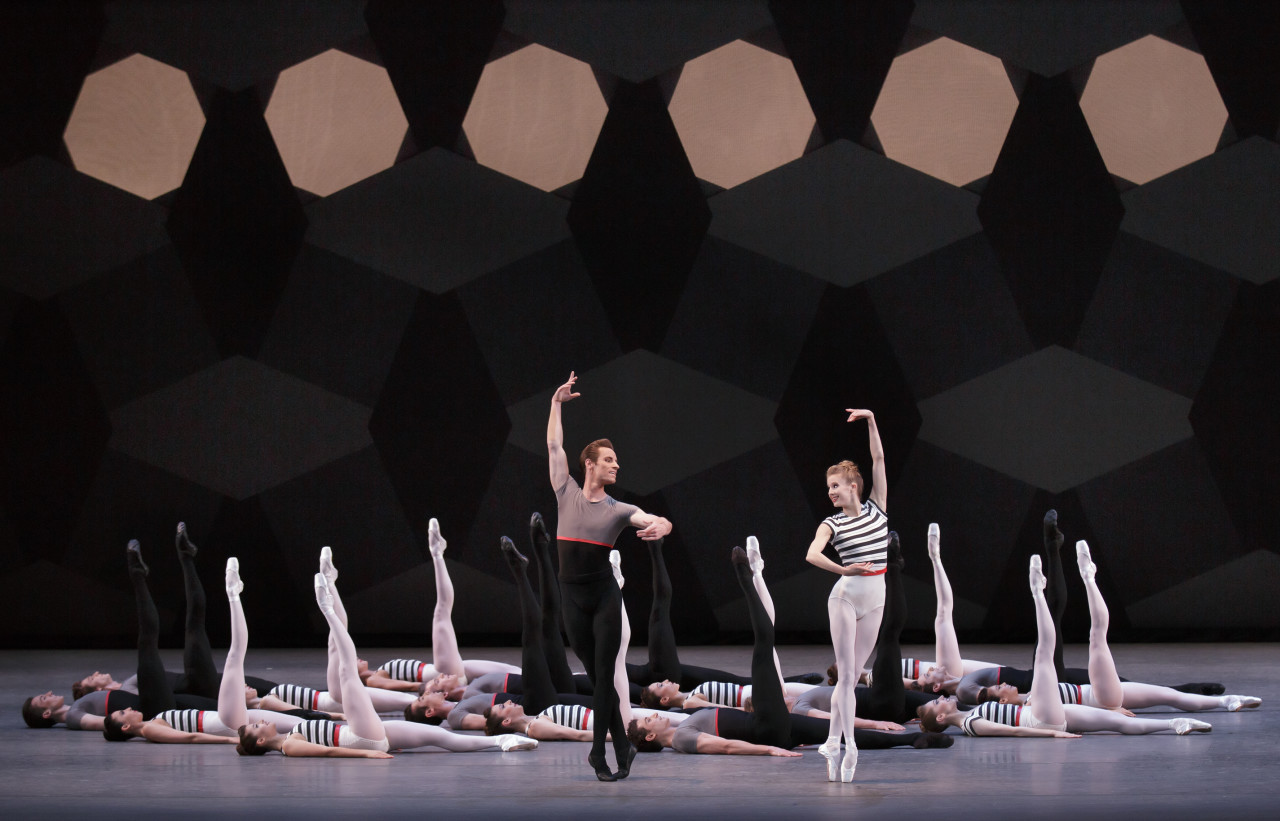 Sterling Hyltin, Andrew Veyette and Company in Justin Peck's EVERYWHERE WE GO (Photo: Paul Kolnik)