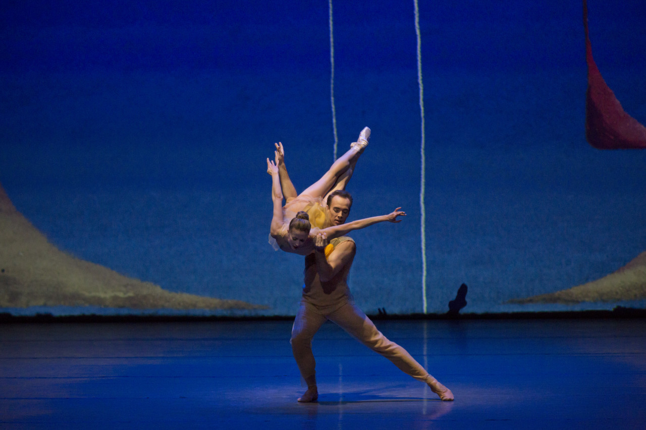 Sterling Hyltin and Tyler Angle in Alexei Ratmansky's PICTURES AT AN EXHIBITION  (Photo: Paul Kolnik)