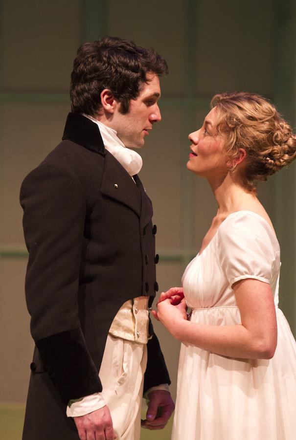 Sam O'Mahony and Lorna Quinn in the Gate Theatre's PRIDE AND PREJUDICE (Photo: Pat Redmond)