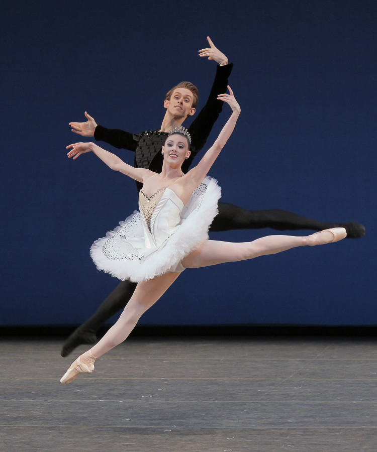 Tiler Peck and Adrian Danchig-Waring in George Balanchine's SYMPHONY IN C (Photo: Paul Kolnik)