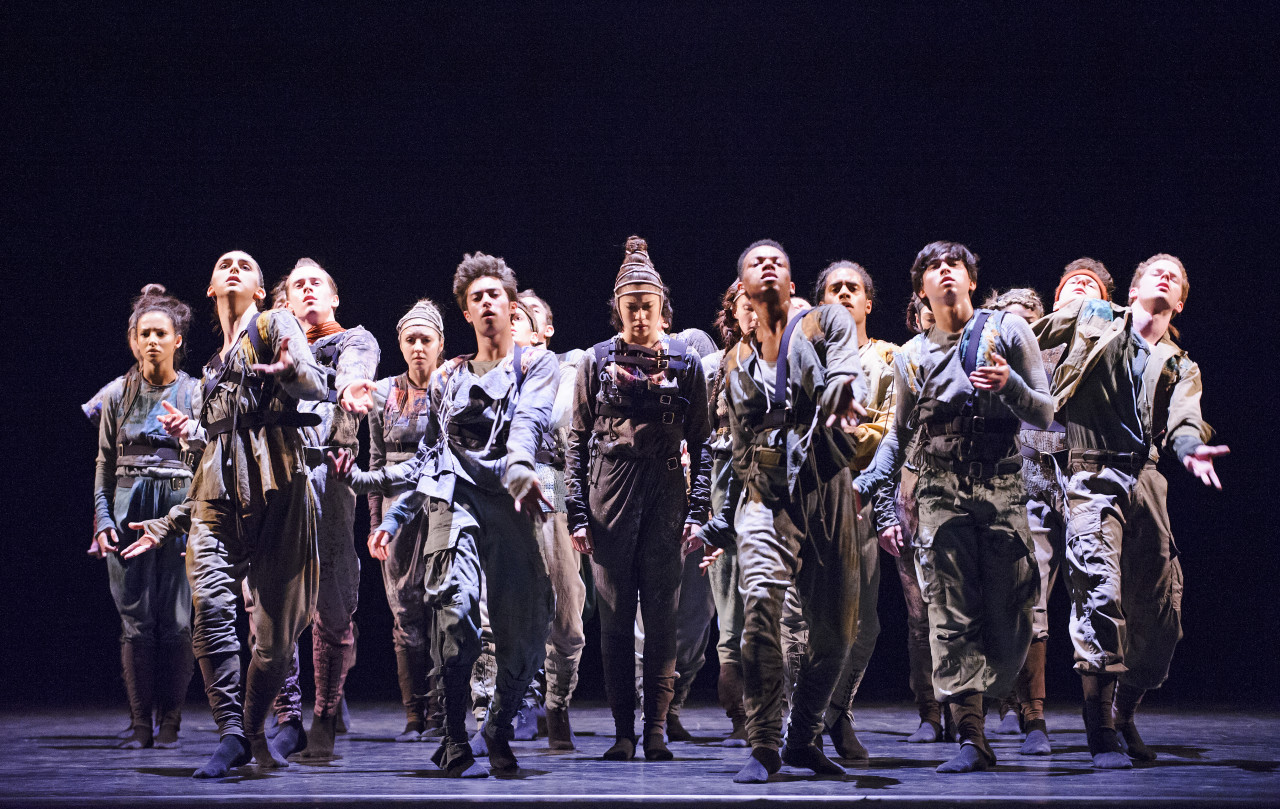 Artists of the Royal Ballet in the world première of Hofesh Shechter's UNTOUCHABLE (Photo: Tristram Kenton)