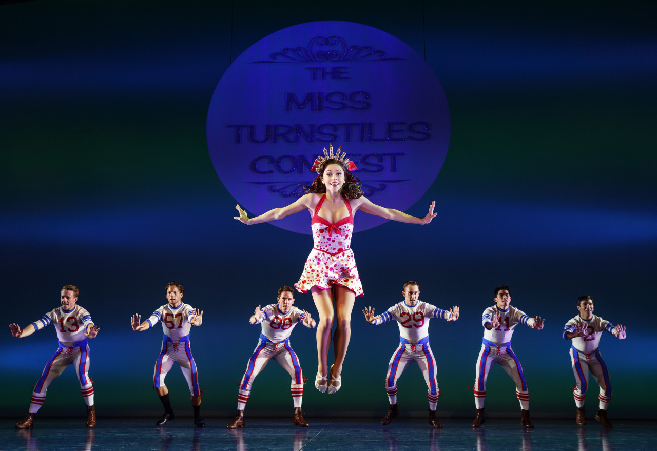 Megan Fairchild as Miss Turnstiles Ivy Smith and the cast of Broadway's ON THE TOWN (Photo: Joan Marcus)