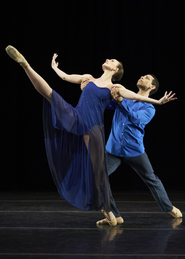 Emily Kerr and Taurean Green in rehearsal for new work by Betsy Erickson. Photo: David DeSilva)