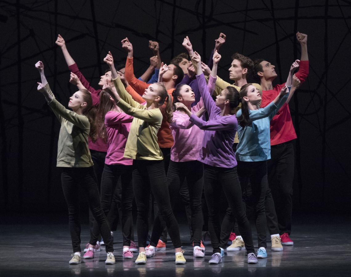 New York City Ballet in Jerome Robbins' N.Y. EXPORT: OPUS JAZZ (Photo: Paul Kolnik)