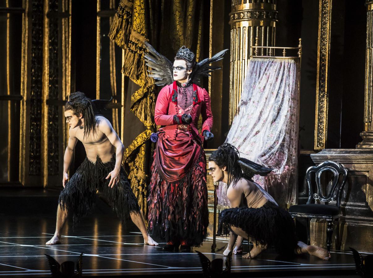 Adam Maskell as the Dark Fairy Carabosse in Matthew Bourne's SLEEPING BEAUTY (Photo: Johan Persson)