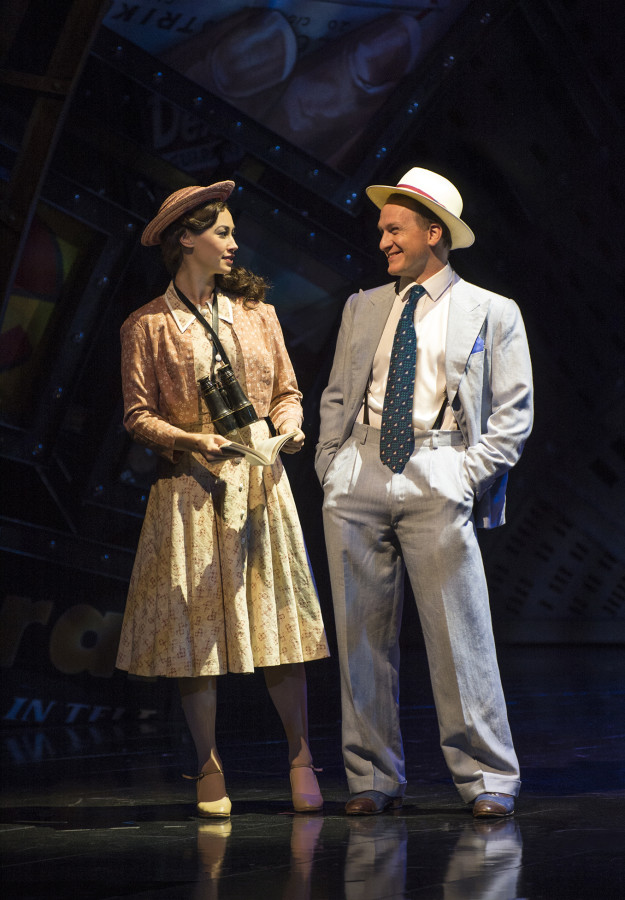 Jamie Parker (Sky Masterson) takes Siubhan Harrison (Sarah Brown) to Havana on a bet in GUYS AND DOLLS (Photo: Paul Coltas)