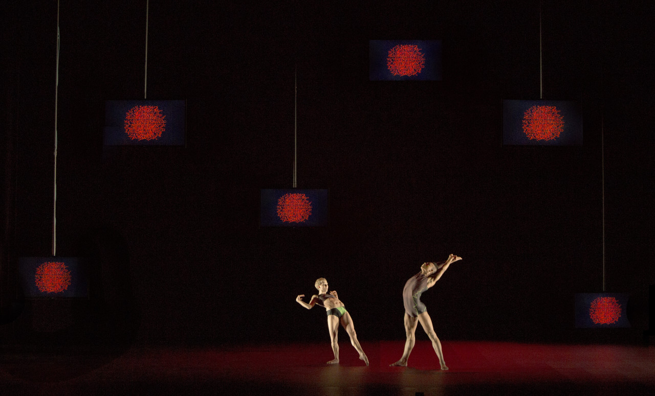 Jessica Wright and Louis McMiller in ATOMOS (Photo: Ravi Deepres)