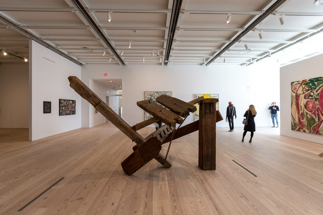 Pollock and Krasner in a gallery of the Whitney Museum (via ny.curbed.com)