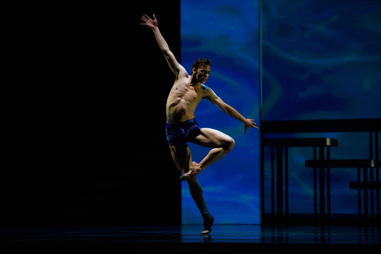 Taras Domitro in Yuri Possokhov's Swimmer, paired with Dances at a Gathering at San Francisco Ballet this season (Photo: Erik Tomasson)
