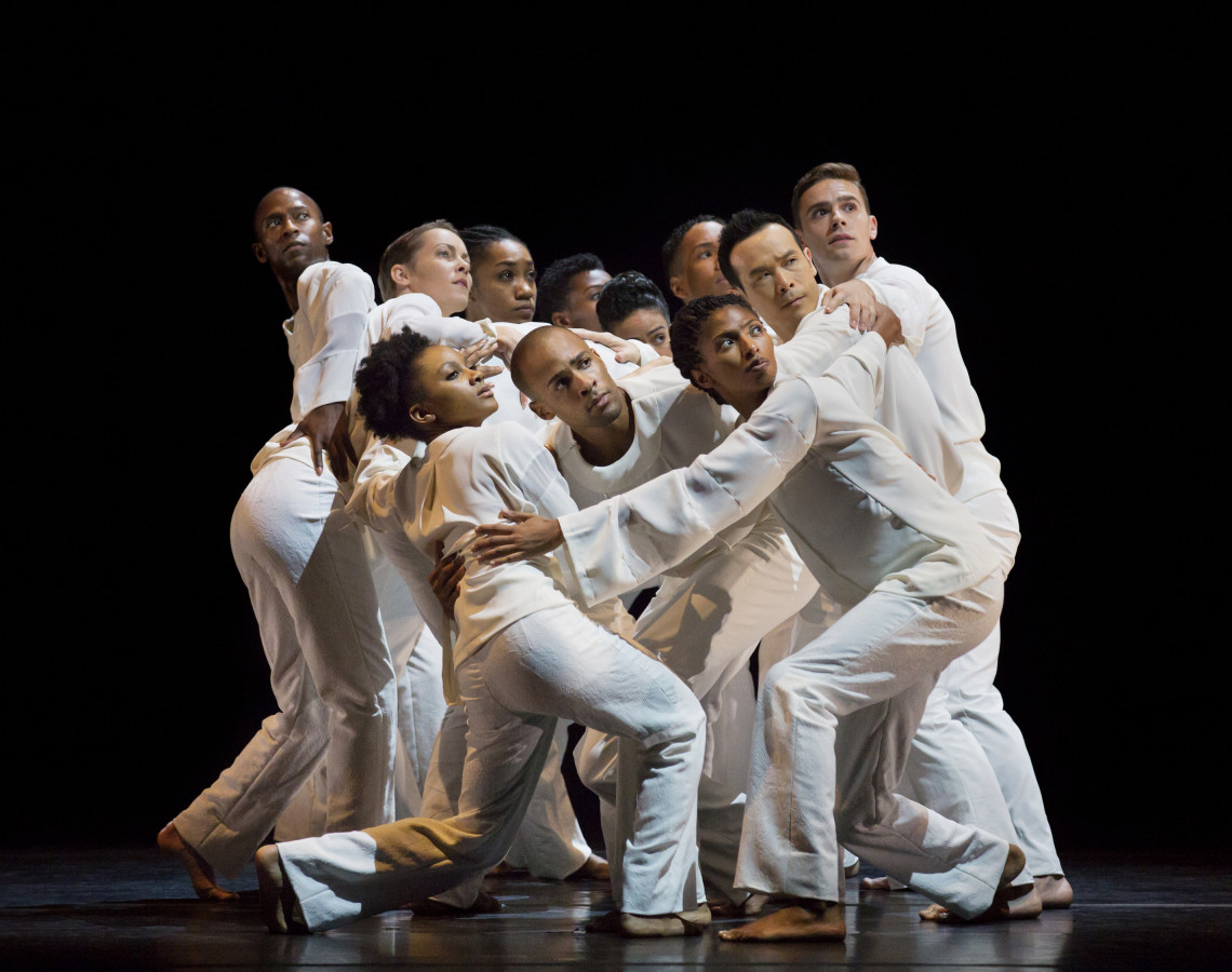 Alvin Ailey American Dance Theater in Robert Battle's AWAKENING (Photo: Paul Kolnik)