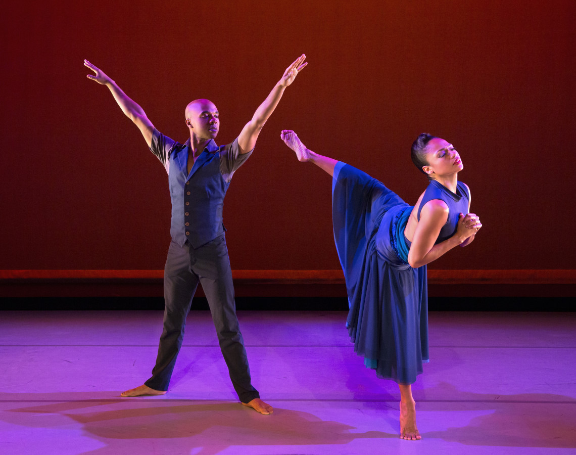 Matthew Rushing and Linda Celeste Sims in the West Coast premiere of Ronald K. Brown's OPEN DOOR (Photo: Paul Kolnik)