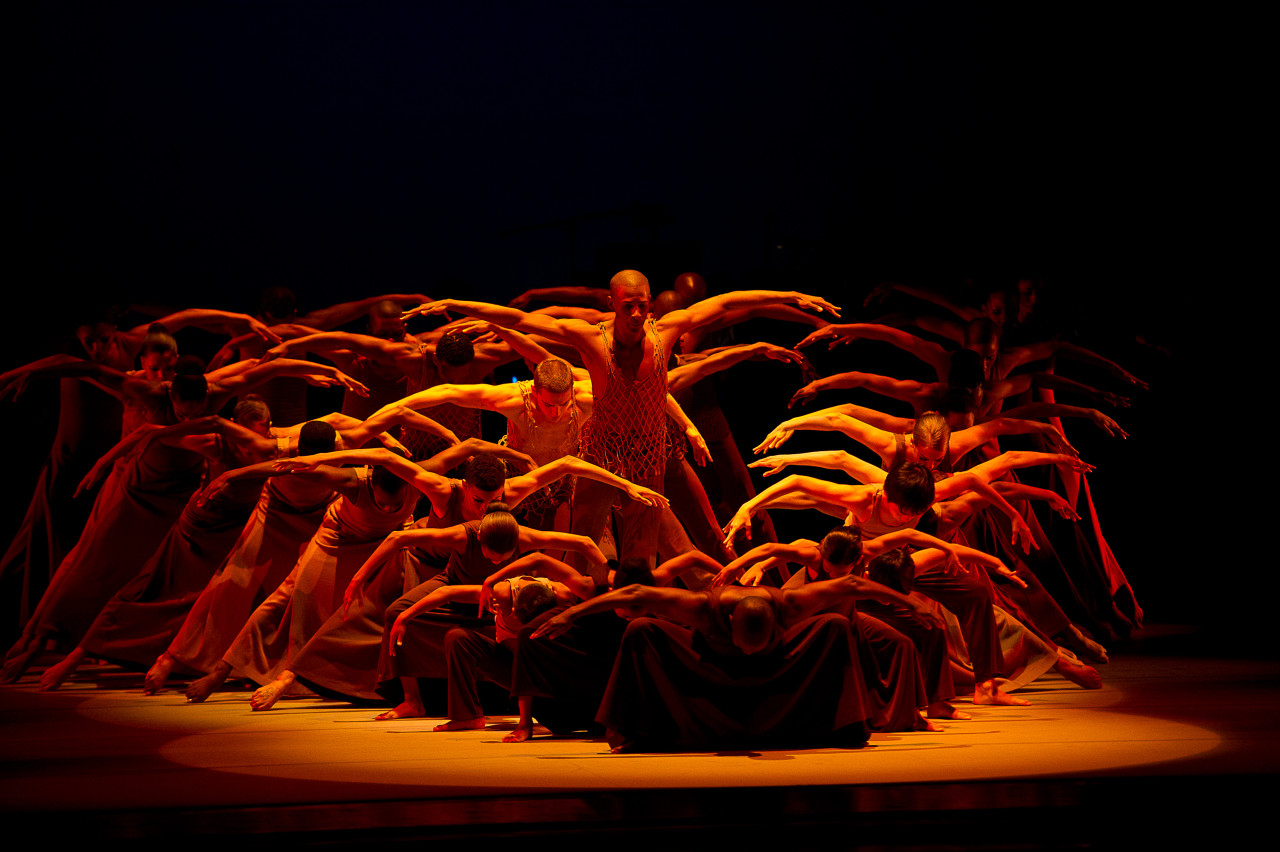 Alvin Ailey American Dance Theater performs Alvin Ailey's REVELATIONS at Zellerbach Hall in Berkeley (Photo: Christopher Duggan)