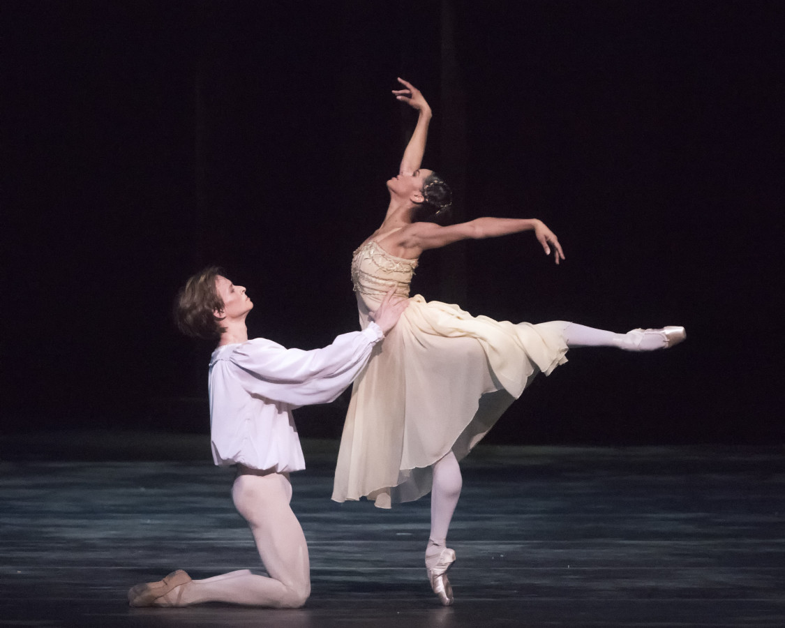 Daniil Simkin and Misty Copeland in Kenneth MacMillan's ROMEO AND JULIET (Photo: Gene Schiavone)
