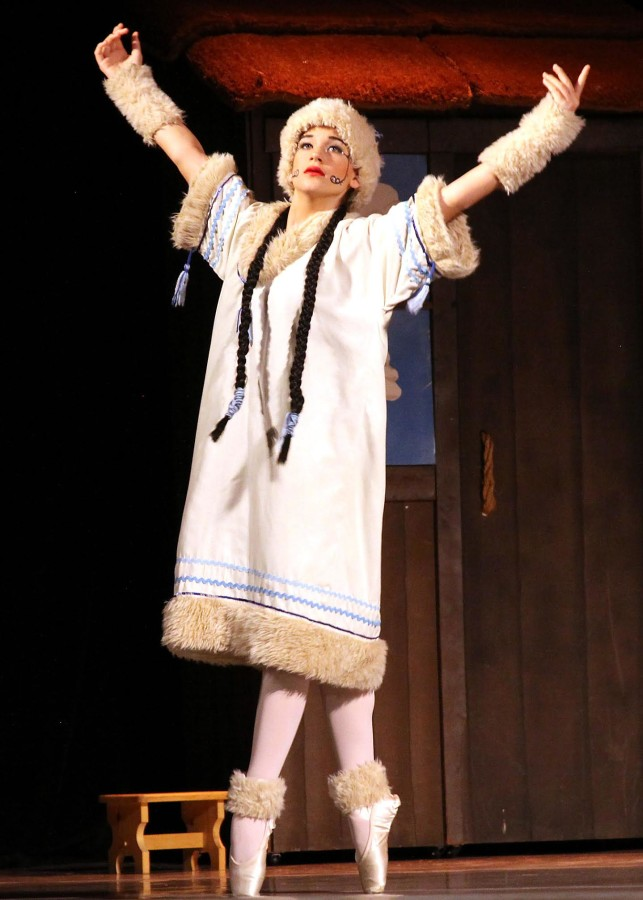 Fiona Cole as the North Wind in Sonoma Conservatory of Dance's THE SNOW MAIDEN (Photo: Pat Adams)