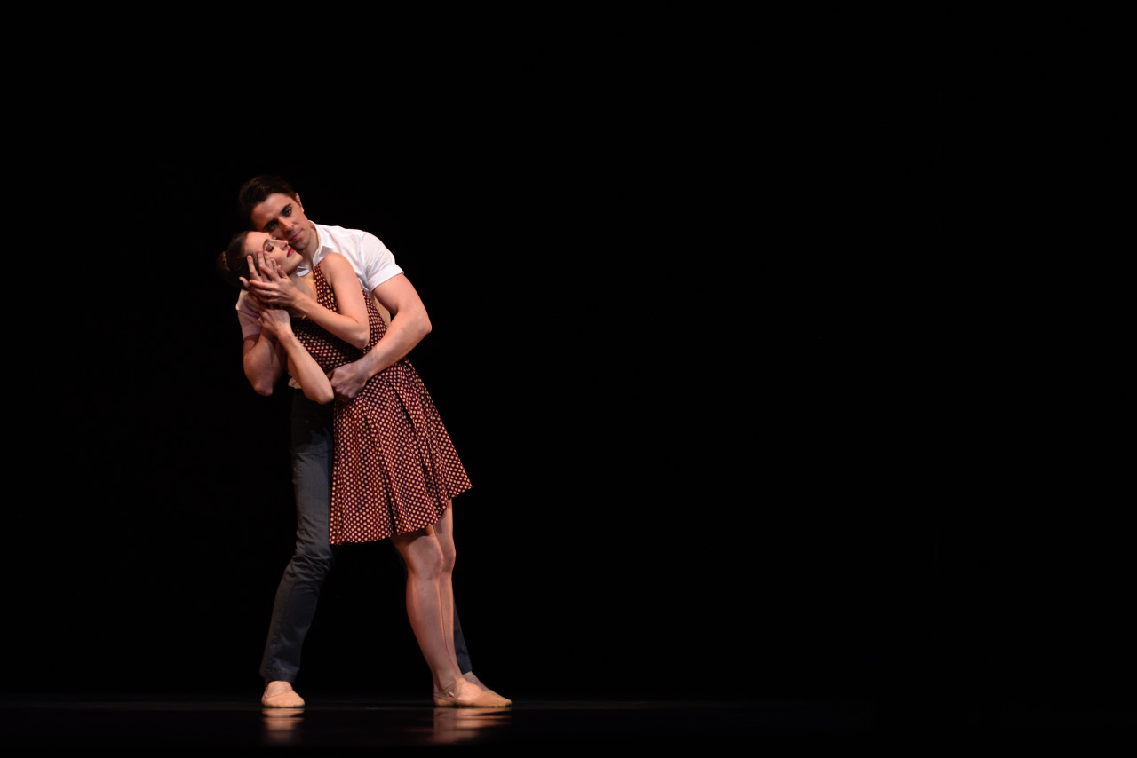 Sarah Van Patten and Luke Ingham in McIntyre's Presentce.(Photo: Erik Tomasson)