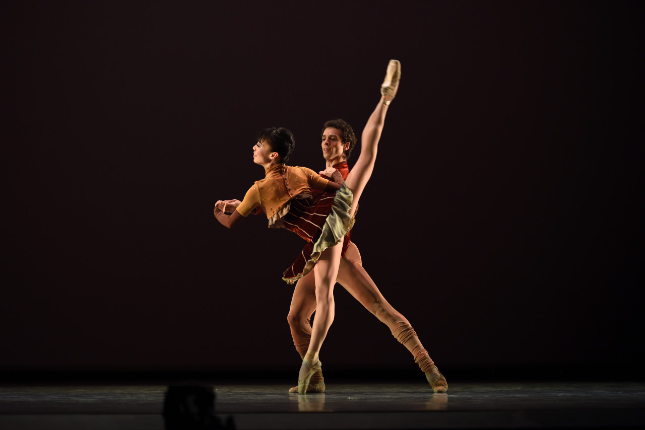 "Frances Chung and Vitor Luiz in ""Purple"" from Kudelka's Terra Firma (Photo: Erik Tomasson)"