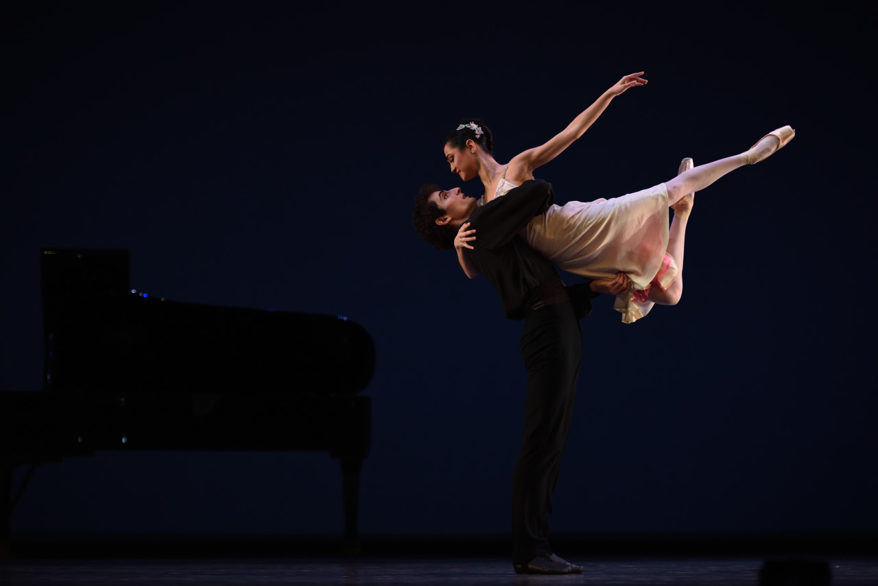 Mathilde Froustey and Carlo Di Lanno in Tomasson's Valses Poeticos. (Photo: Erik Tomasson)